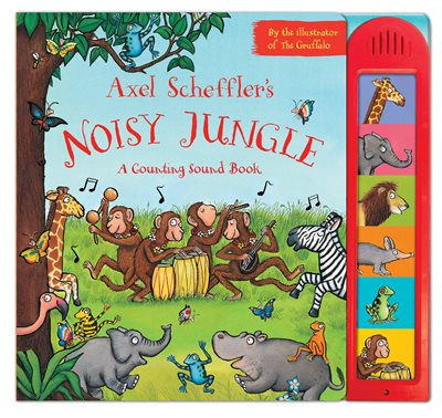 Book cover for Axel Scheffler's Noisy Jungle